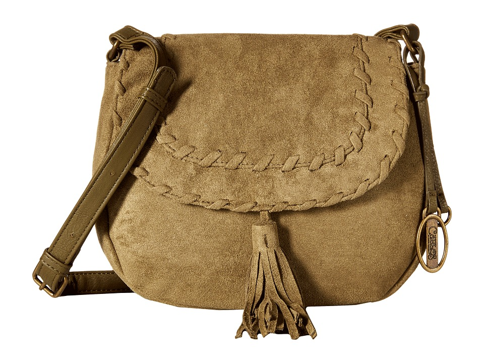 CARLOS by Carlos Santana - Frances Suede Saddle Bag (Olive) Cross Body Handbags