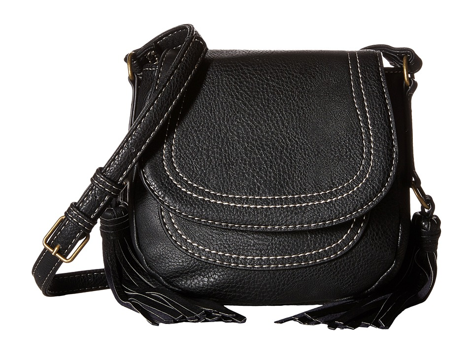 CARLOS by Carlos Santana - Tatum Mini Saddle Bag (Black) Cross Body Handbags