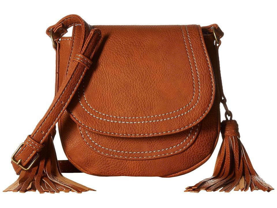 CARLOS by Carlos Santana - Tatum Mini Saddle Bag (Cognac) Cross Body Handbags