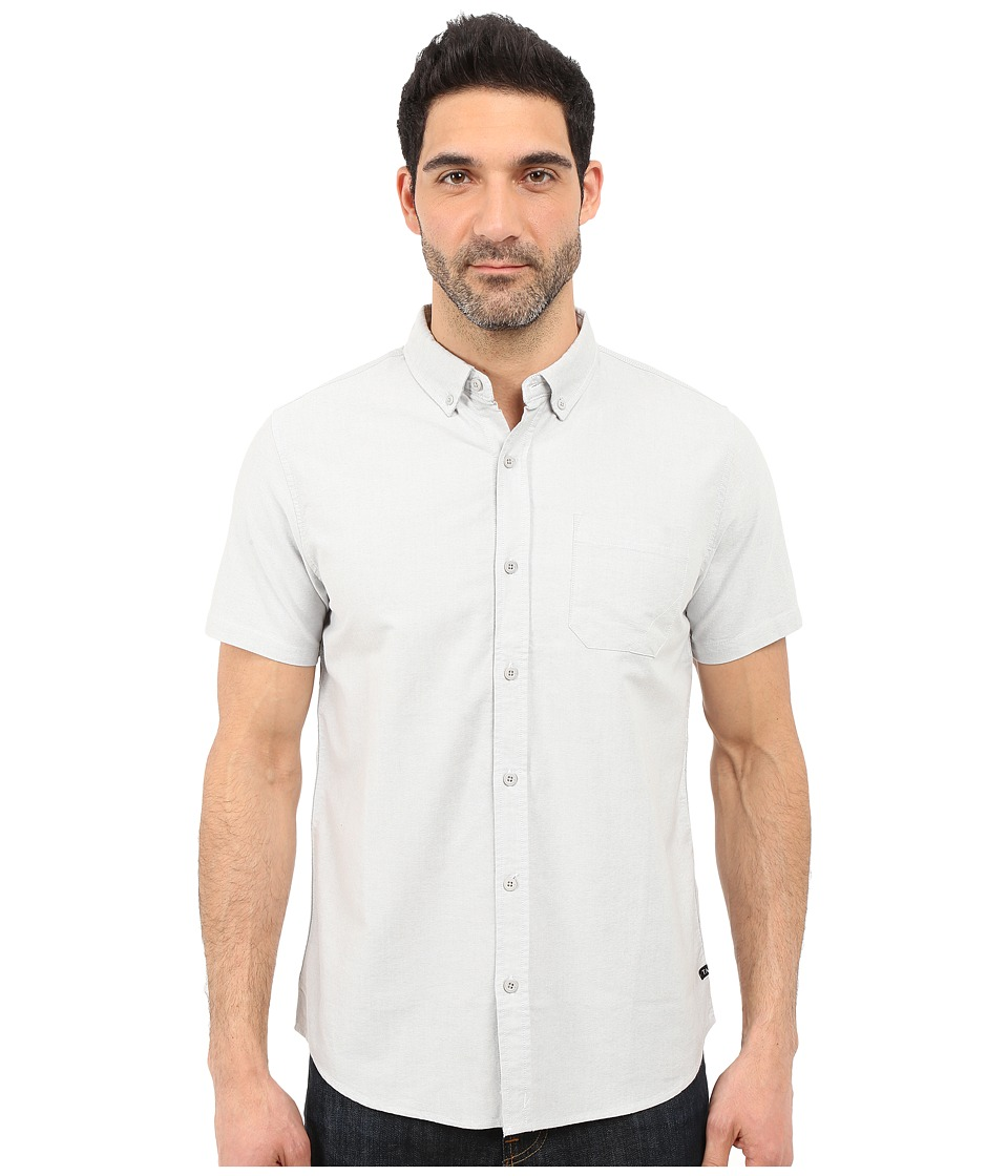 Tavik - Uncle Short Sleeve Woven (Light Grey) Men's Short Sleeve Button Up