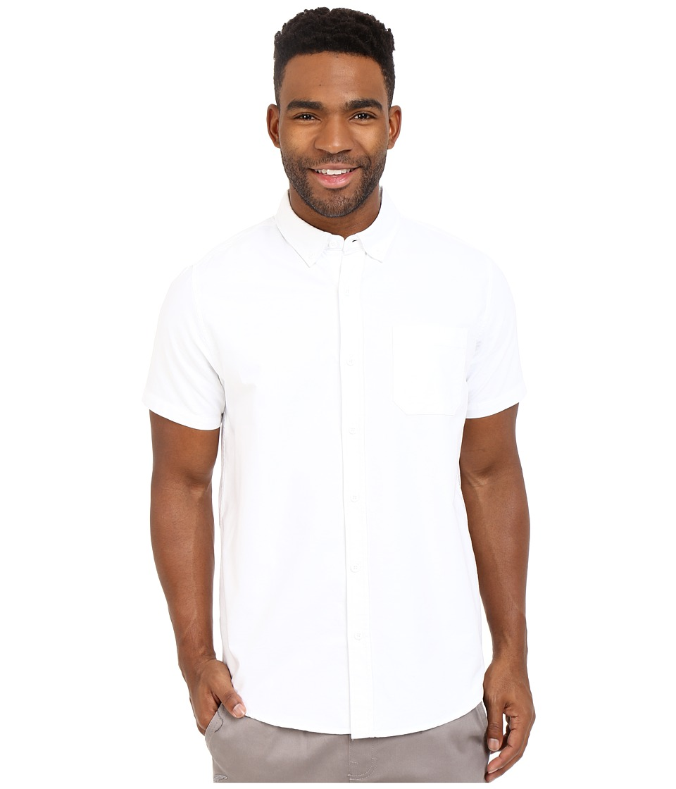 Tavik - Uncle Short Sleeve Woven (White) Men's Short Sleeve Button Up