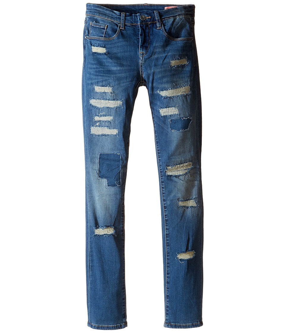Blank NYC Kids - Denim Distresssed Skinny Jeans in Wild Fling (Big Kids) (Wild Fling) Girl's Jeans