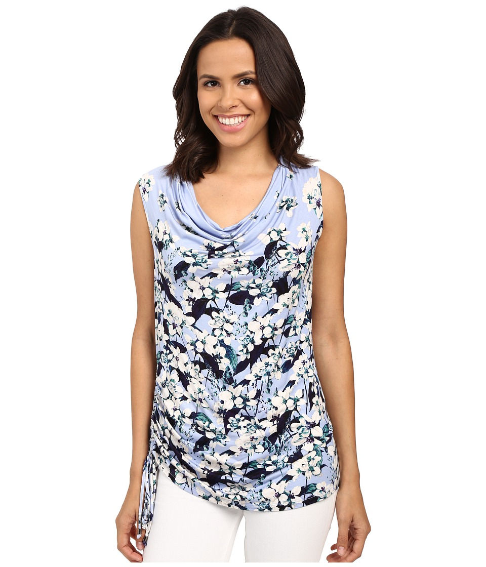 Adrianna Papell - Print Scoop Neck Side Ruched Top (Crocus Multi) Women's Blouse