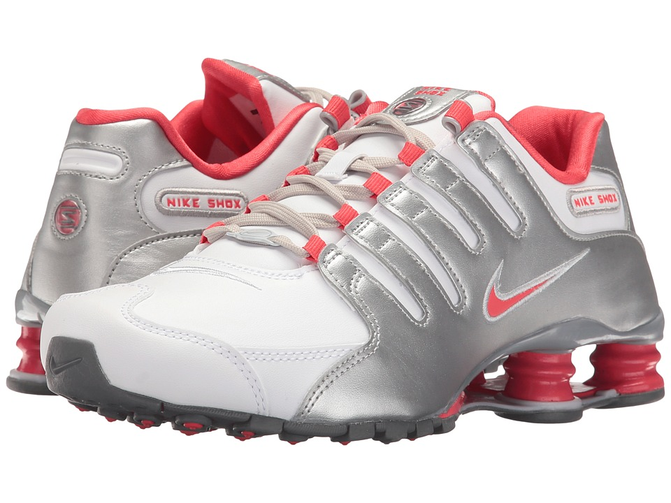 Nike - Shox NZ (White/Ember Glow/Metallic Silver/Cool Grey/Pure Platinum) Women's Shoes