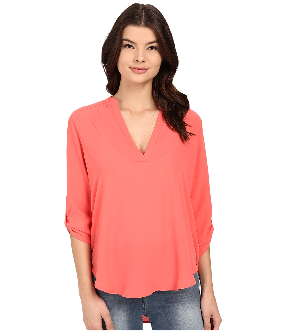 Brigitte Bailey - Channing V-Neck Blouse (Dubarry Pink) Women's Blouse