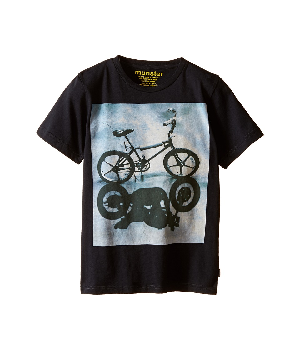 Munster Kids - Bike Shadow Tee (Toddler/Little Kids/Big Kids) (Soft Black) Boy's T Shirt