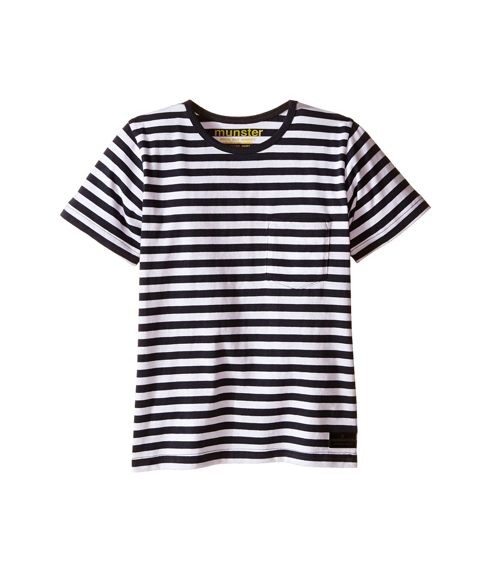 Munster Kids - Lock Stock Tee (Toddler/Little Kids/Big Kids) (Soft Black Stripe) Boy's T Shirt