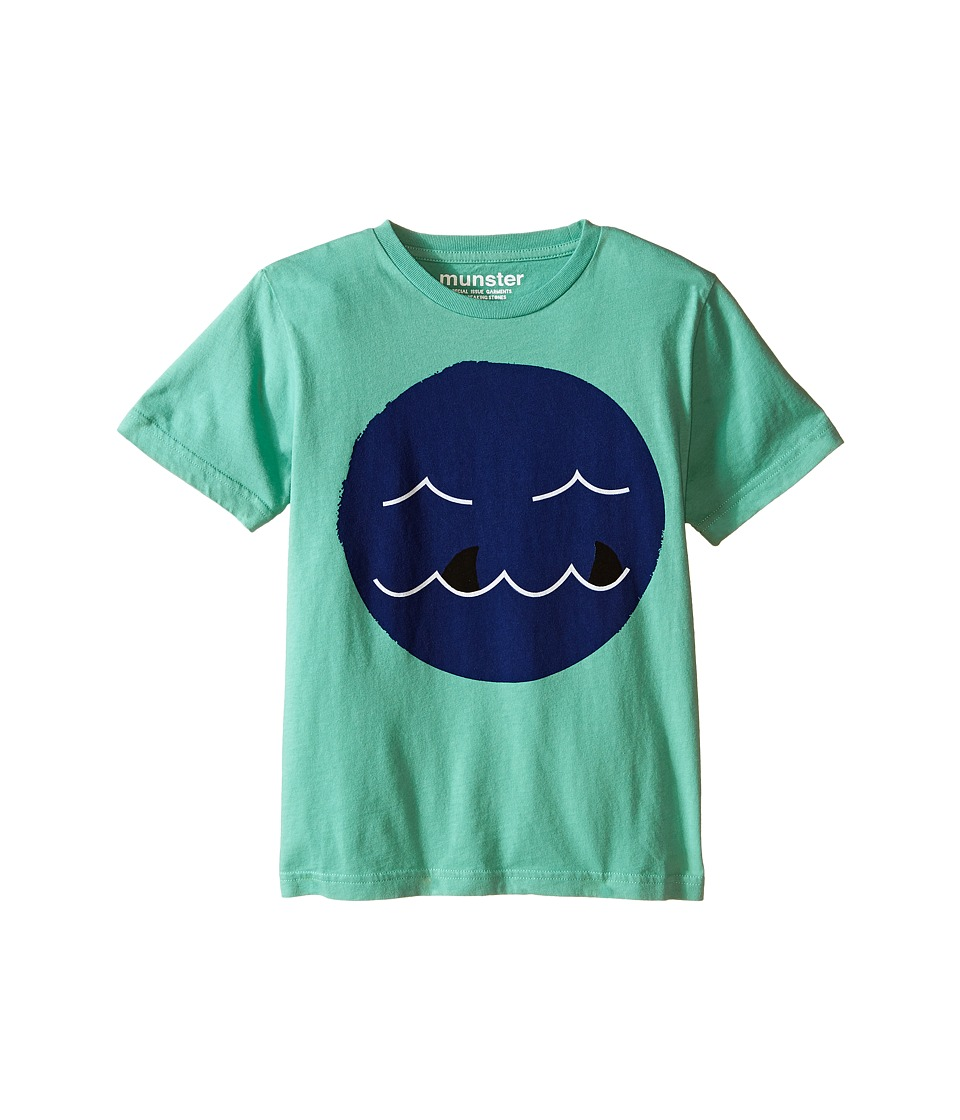 Munster Kids - Shark Tooth Tee (Toddler/Little Kids) (Green) Boy's T Shirt