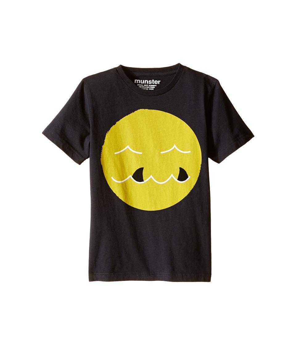 Munster Kids - Shark Tooth Tee (Toddler/Little Kids) (Soft Black) Boy's T Shirt
