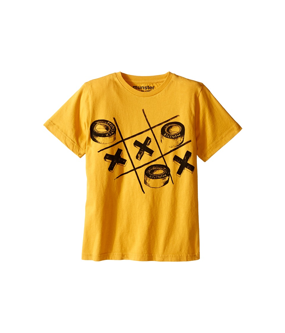 Munster Kids - O and X Tee (Toddler/Little Kids/Big Kids) (Gold) Boy's T Shirt