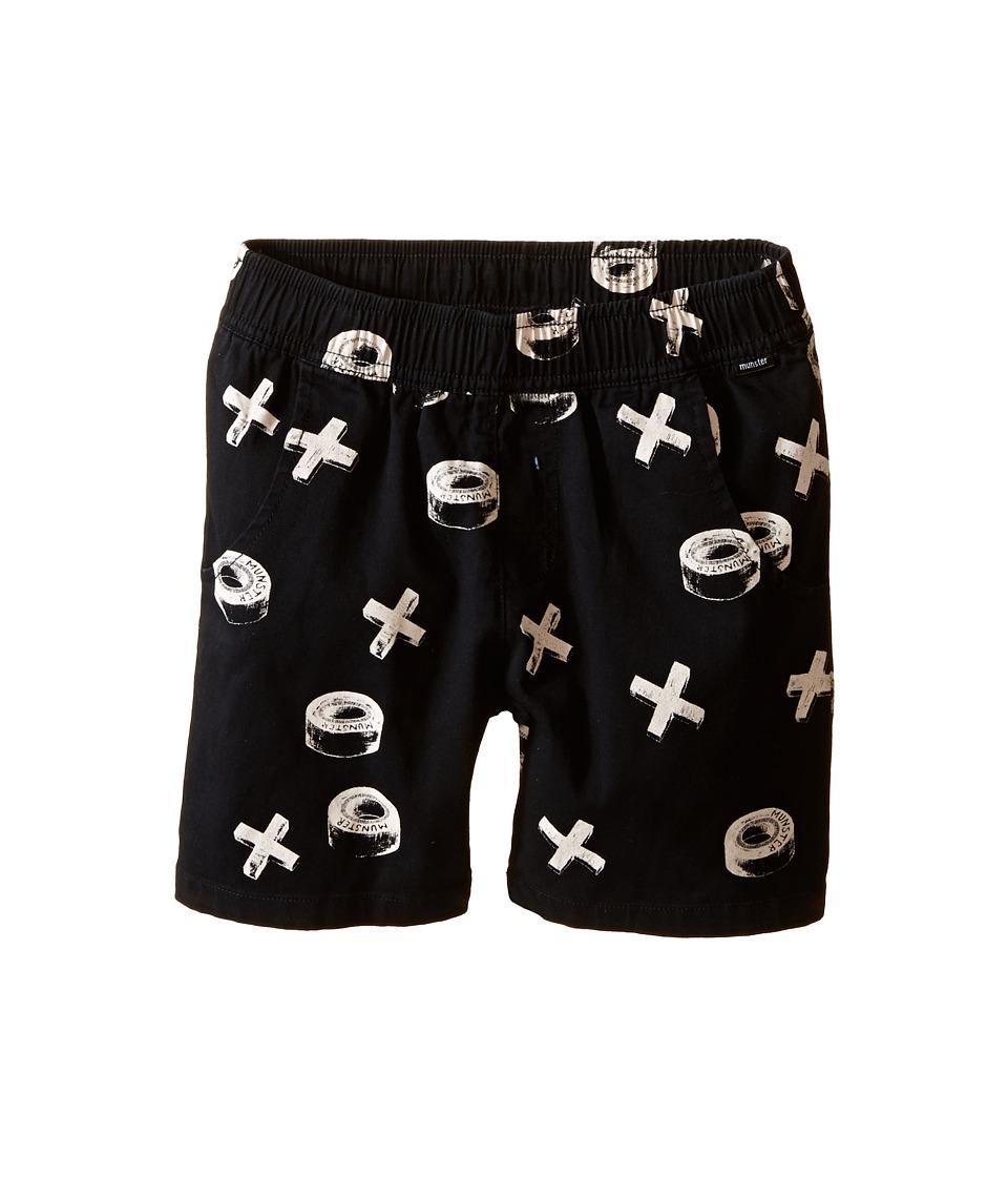 Munster Kids - Xwheels Walkshorts (Toddler/Little Kids/Big Kids) (Black) Boy's Shorts