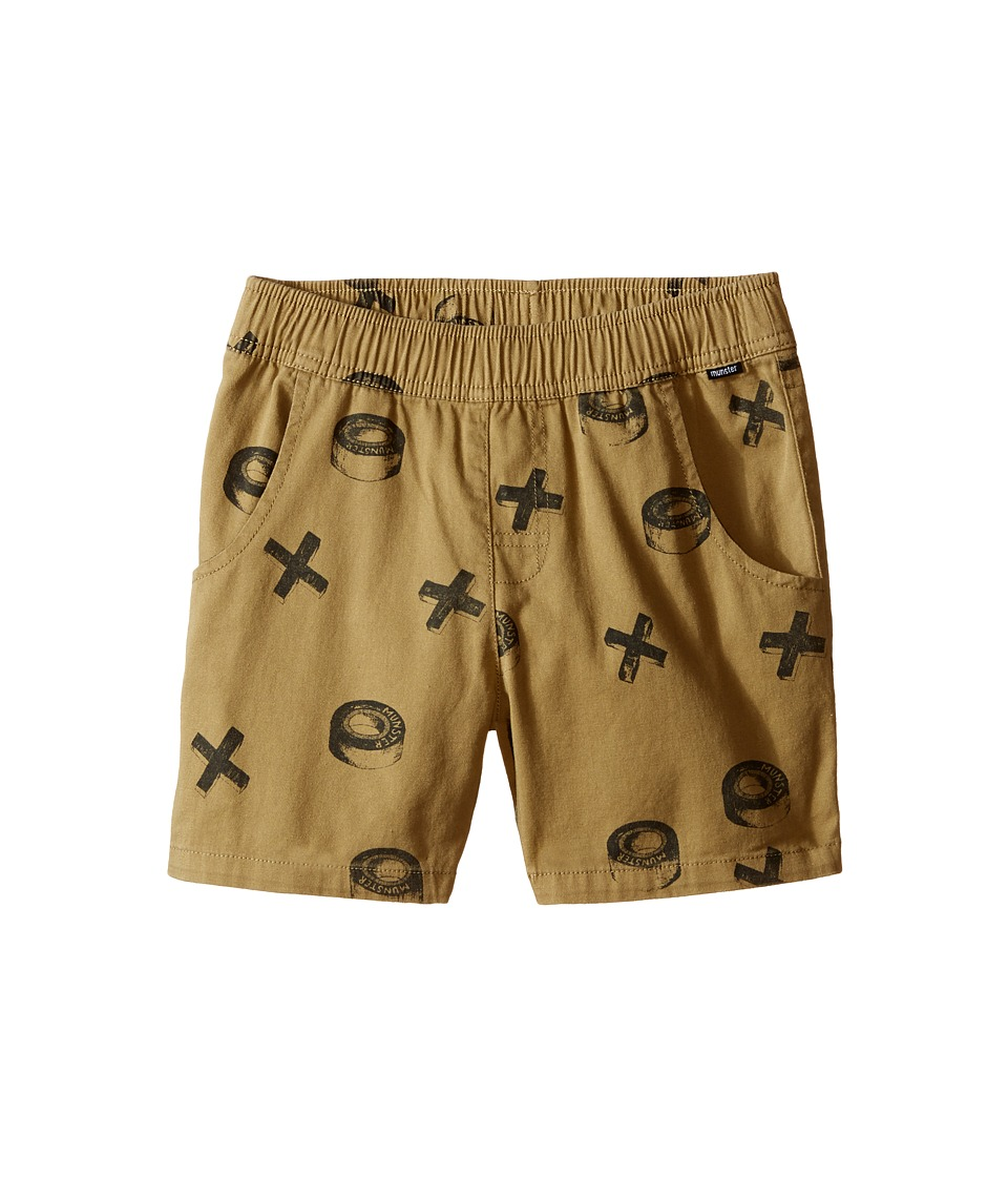 Munster Kids - Xwheels Walkshorts (Toddler/Little Kids/Big Kids) (Khaki) Boy's Shorts