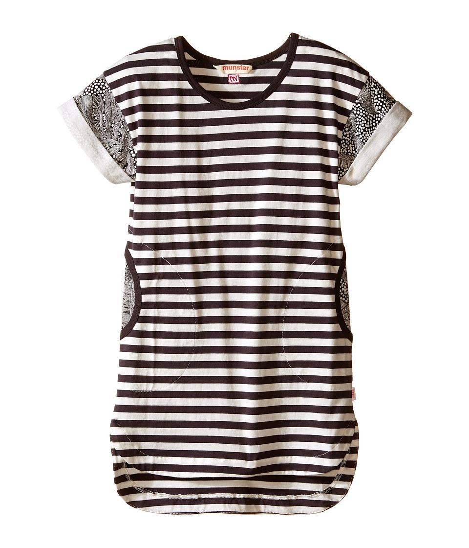 Munster Kids - Biscus Dress (Toddler/Little Kids/Big Kids) (Vintage Black/Oatmeal Marle) Girl's Dress