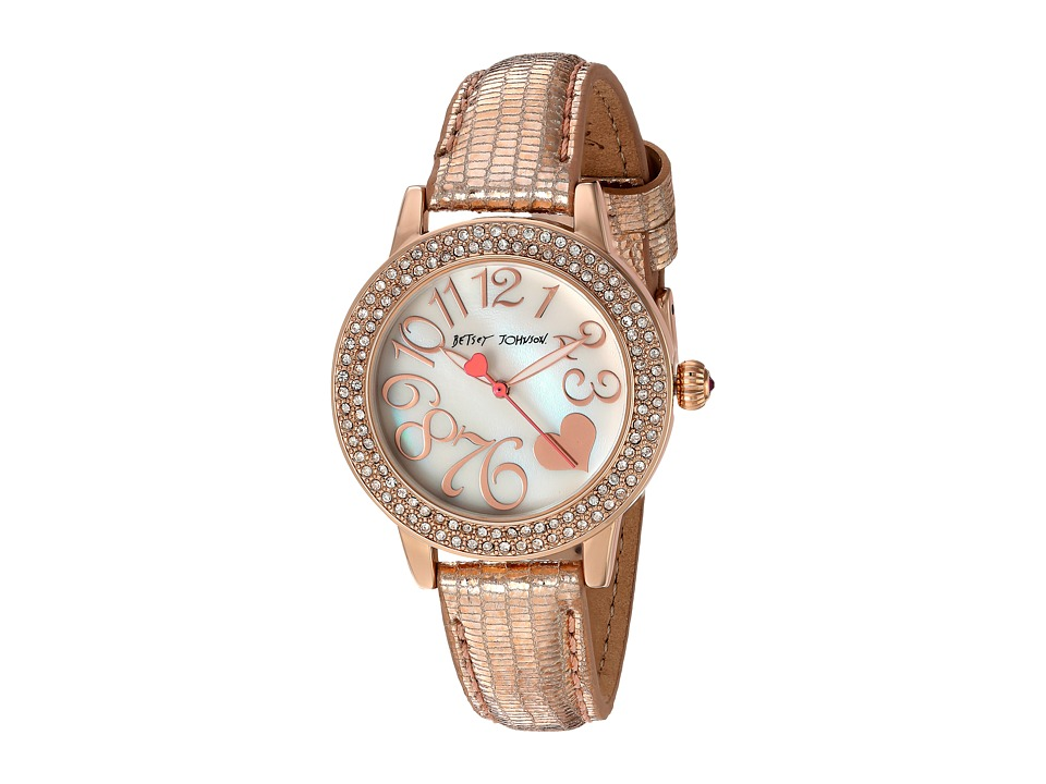 Betsey Johnson - BJ00251-14 - Rose Gold Sparkle (Rose Gold) Watches