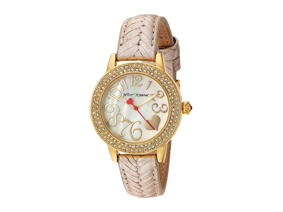 Betsey Johnson - BJ00251-16 - Gold Chevron (Gold) Watches