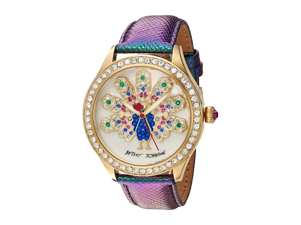 Betsey Johnson - BJ00517-47 - Peacock (Rainbow/Gold) Watches