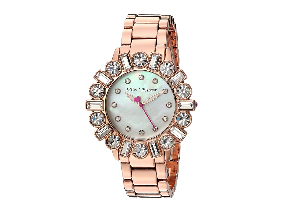 Betsey Johnson - BJ00612-03 - Geometric Baguette (Rose Gold) Watches