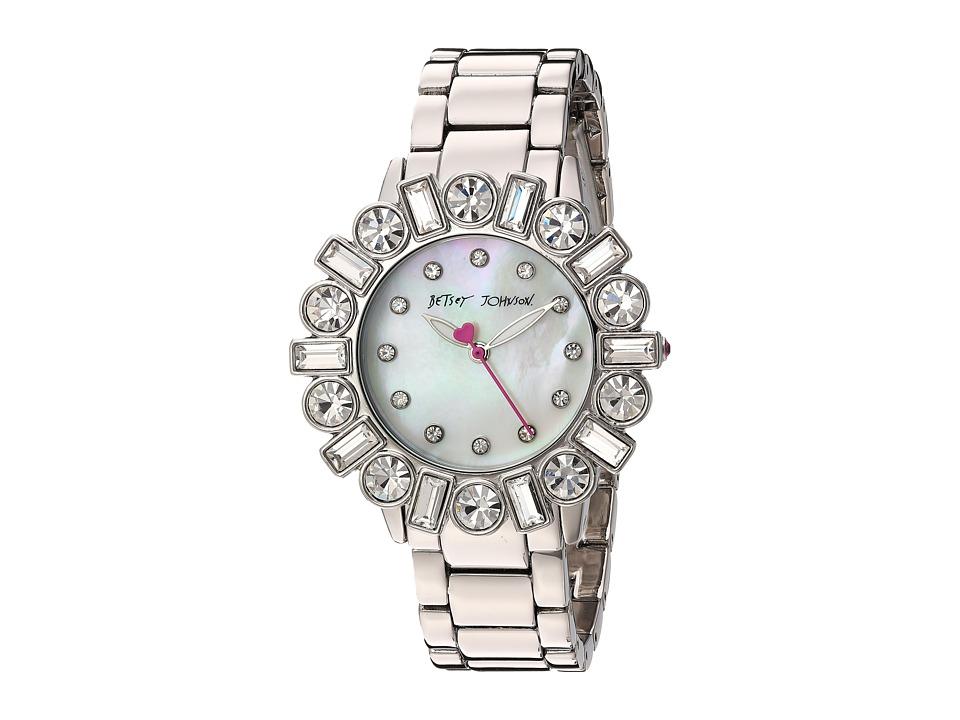 Betsey Johnson - BJ00612-01 - Geometric Baguette (Silver) Watches