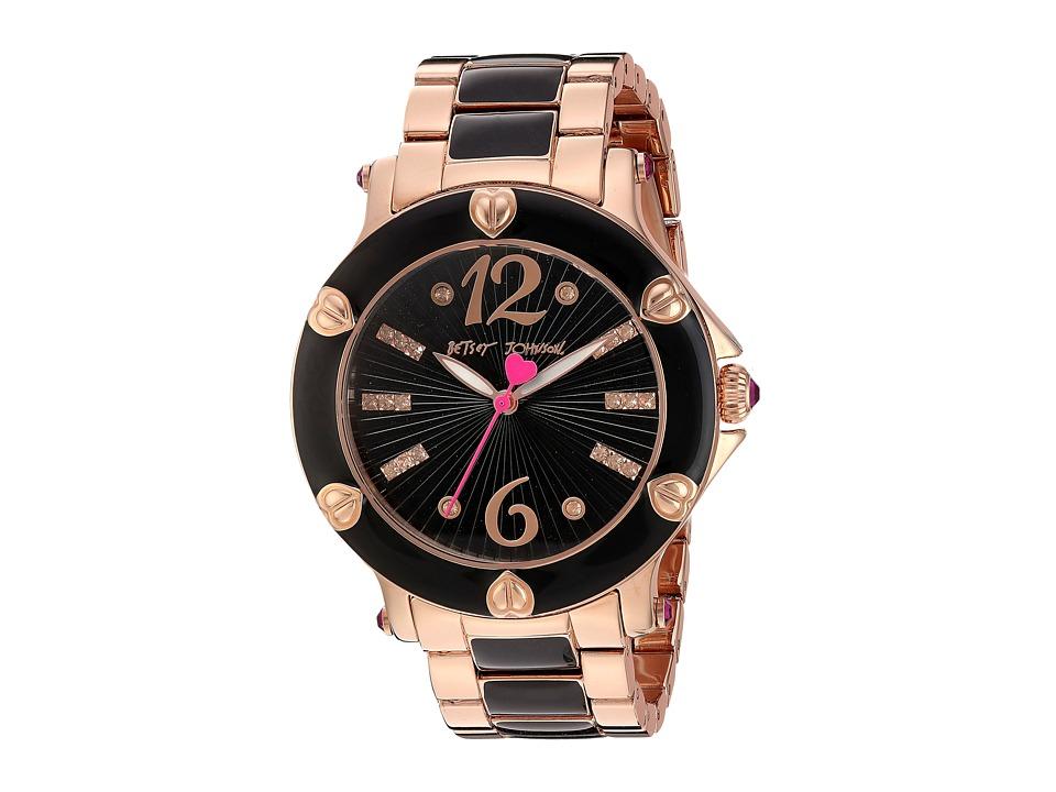 Betsey Johnson - BJ00459-08 - Rose Gold Black (Rose Gold/Black) Watches