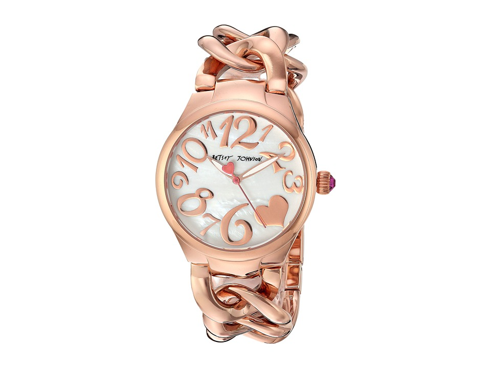 Betsey Johnson - BJ00297-11 - Rose Gold Links (Rose Gold) Watches