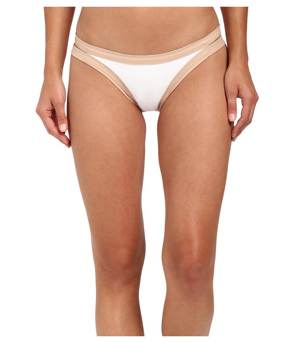 L*Space - Color Block Charlie Bottom (White) Women's Swimwear