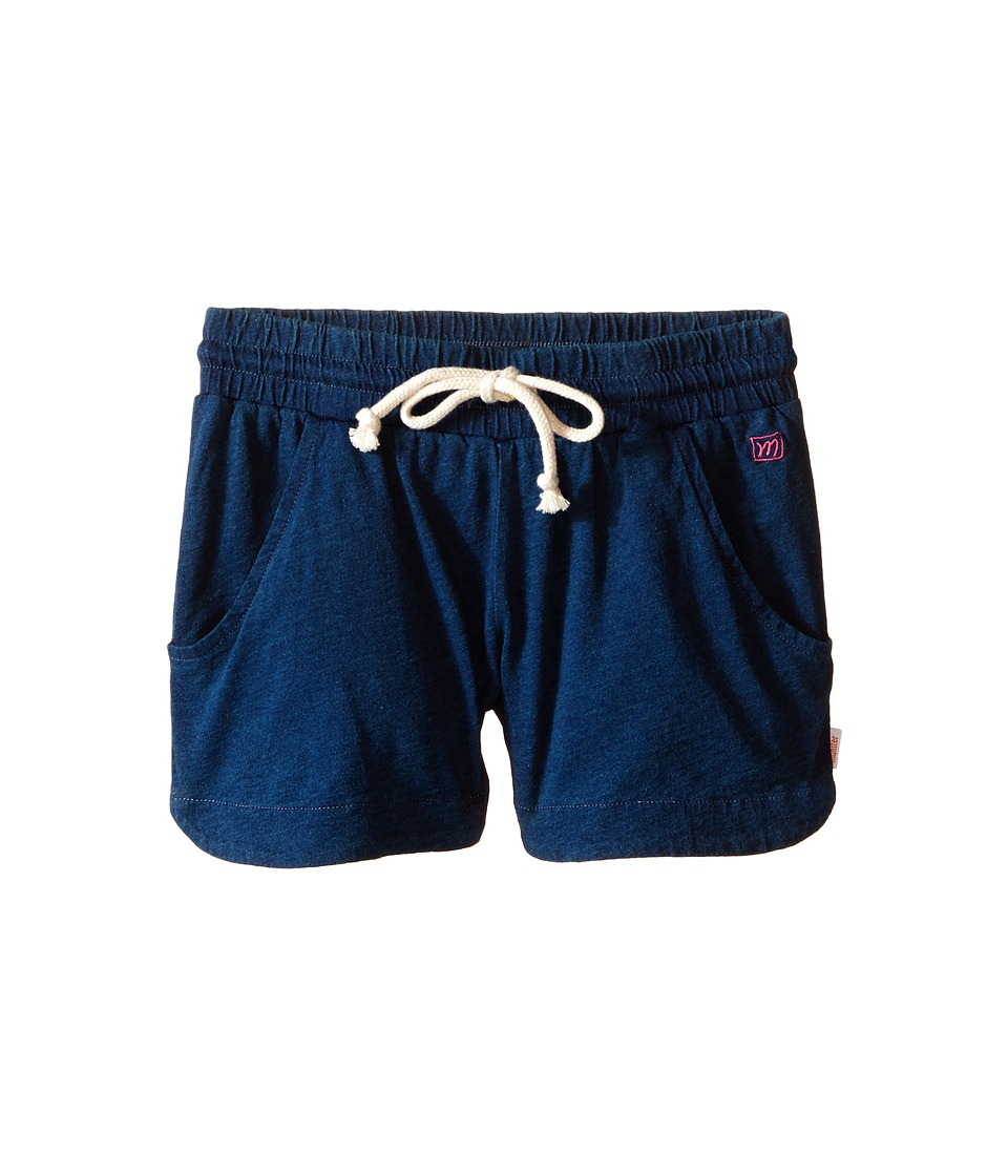 Munster Kids - Double Scoop Walkshorts (Toddler/Little Kids/Big Kids) (Indigo) Girl's Shorts