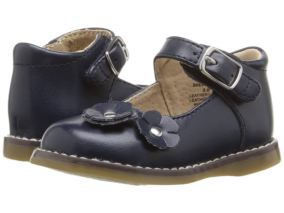 FootMates - Shelby (Infant/Toddler) (Navy) Girls Shoes
