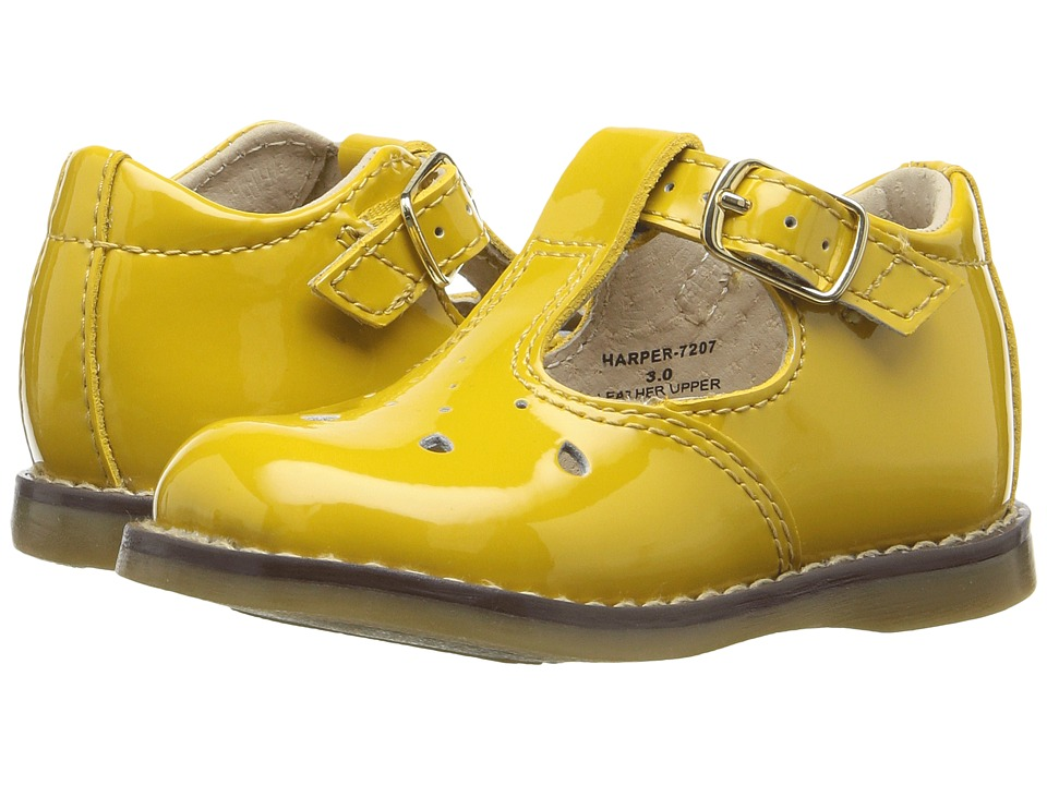 FootMates - Harper (Infant/Toddler) (Yellow Patent) Girls Shoes