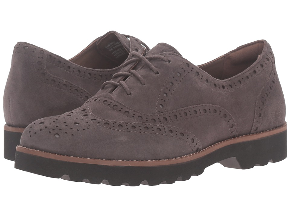 Earth - Santana Earthies (Grey Slate) Women's Lace Up Wing Tip Shoes