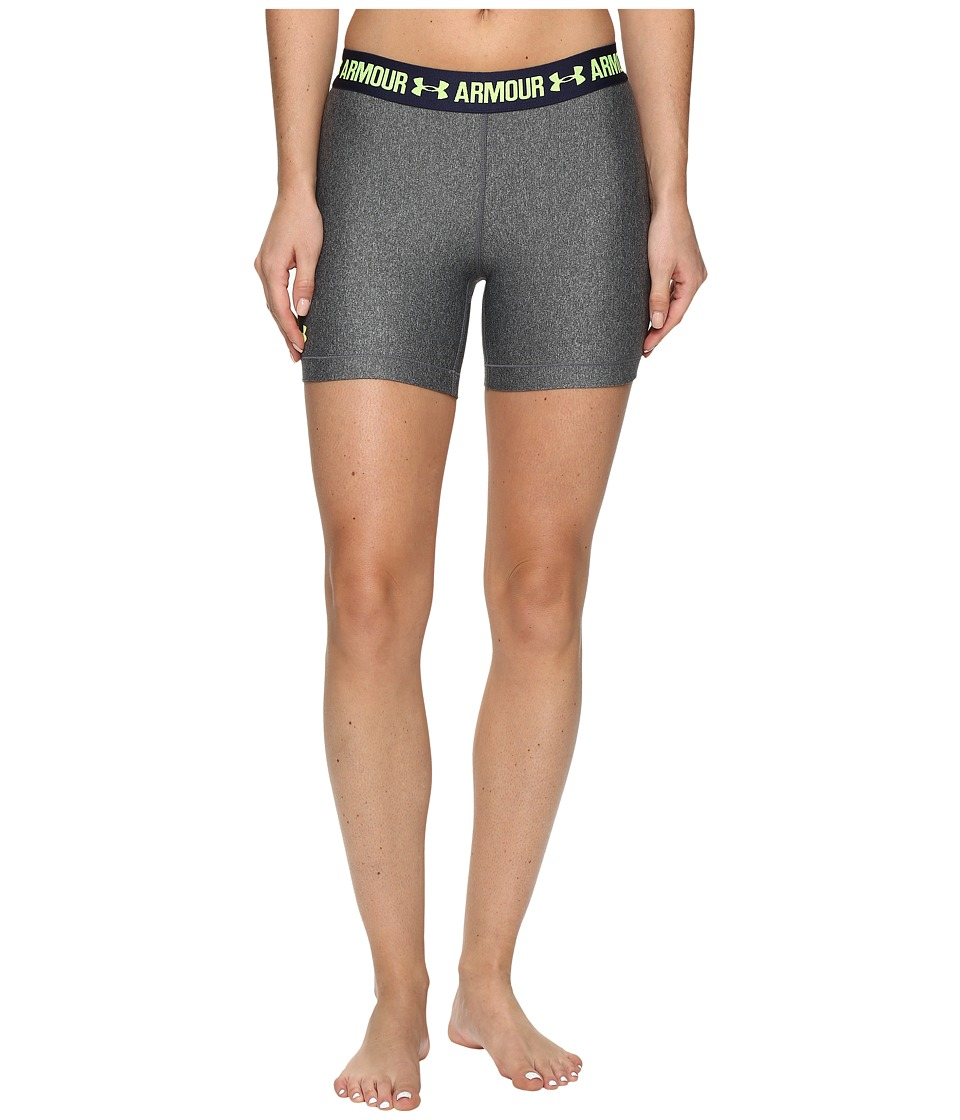 Under Armour - UA HeatGear(r) Armour Middy (Carbon Heather/Midnight Navy/X-Ray) Women's Shorts