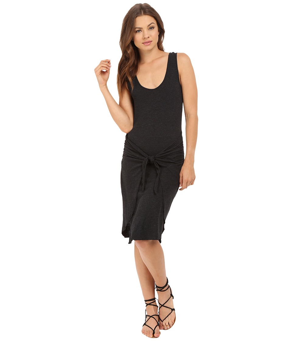 Lanston - Tie Front Dress (Black) Women's Dress