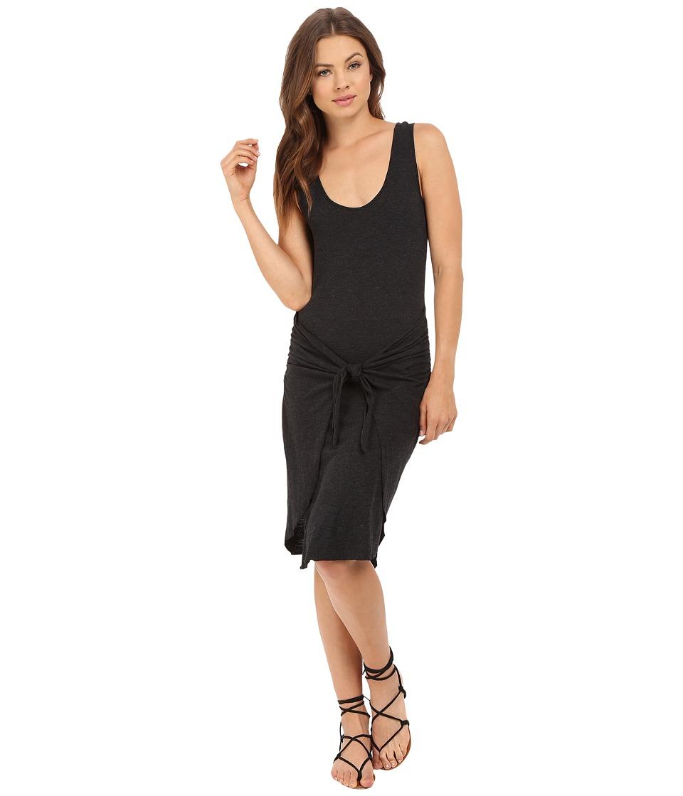 Lanston - Tie Front Dress (Black) Women's Dress