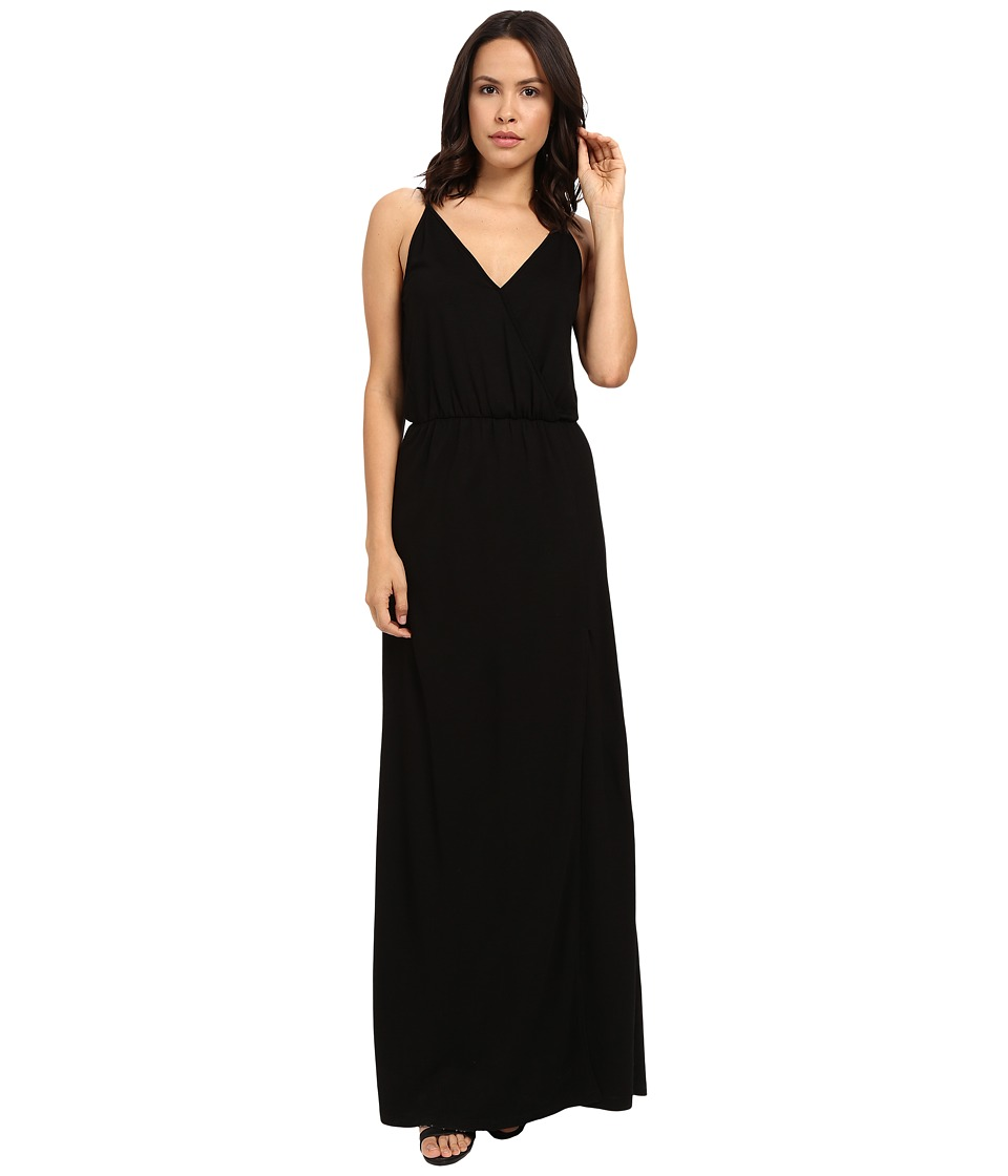 Lanston - Back Bar Slit Maxi Dress (Black) Women's Dress