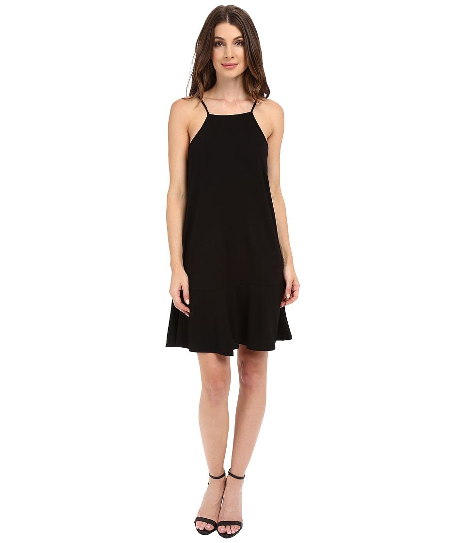 Lanston - Drop Flare Mini Dress (Black) Women's Dress