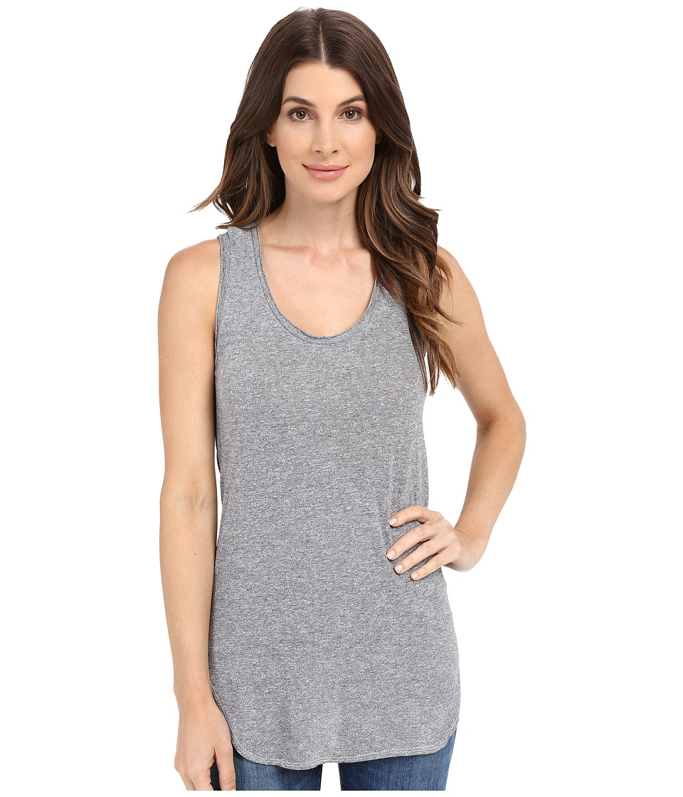 Lanston - Racerback Tunic Tank Top (Heather) Women's Sleeveless
