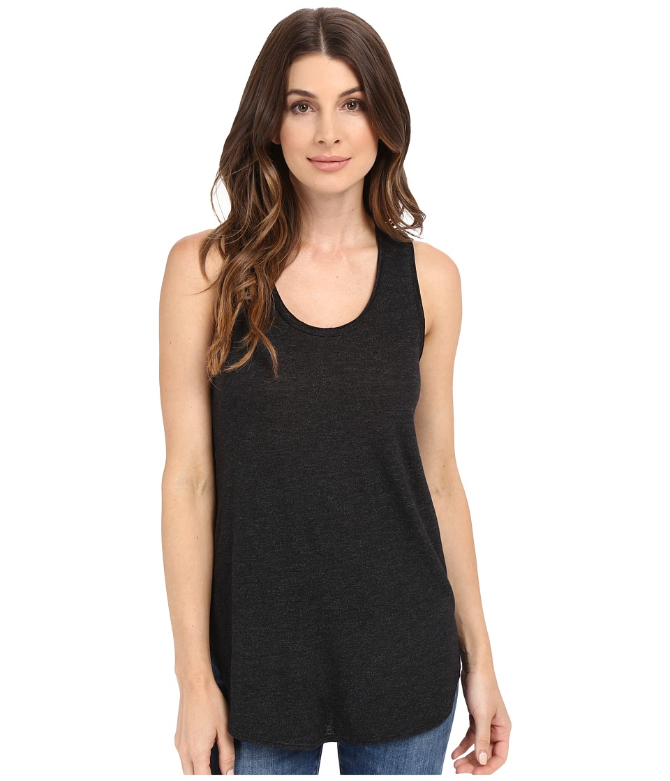 Lanston - Racerback Tunic Tank Top (Black) Women's Sleeveless
