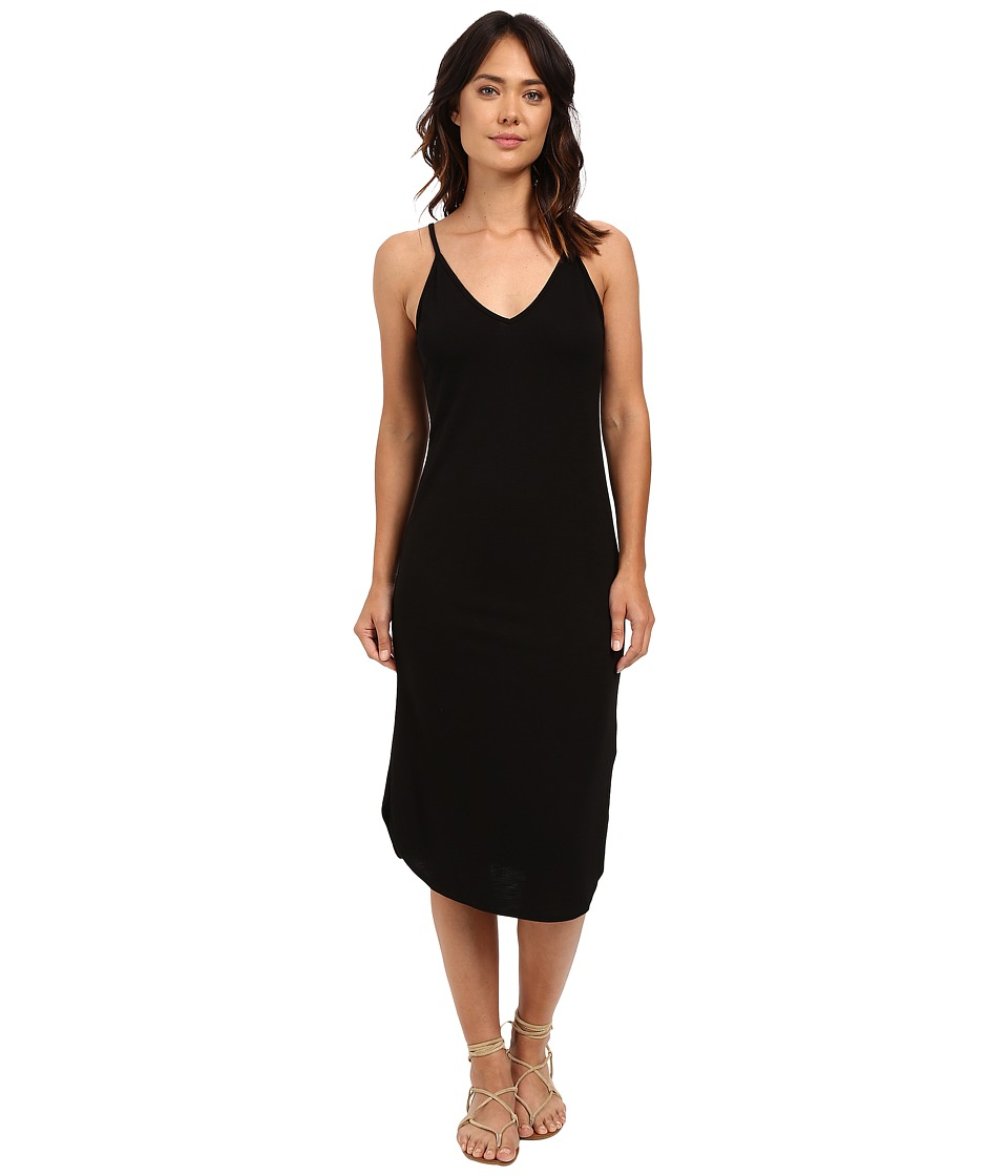 Lanston - X Back Midi Dress (Black) Women's Dress