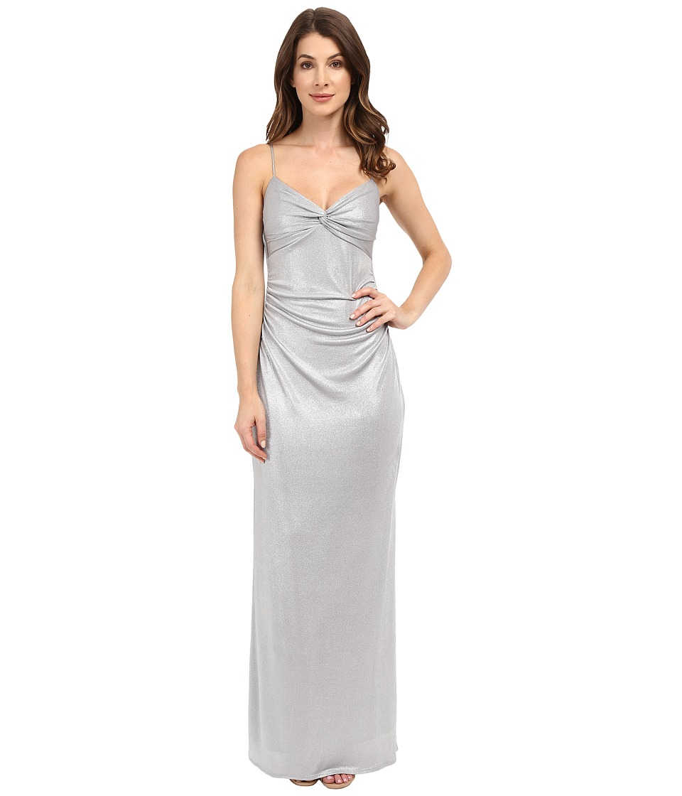 Laundry by Shelli Segal - Twist Front Metallic Dress (Chrome) Women's Dress