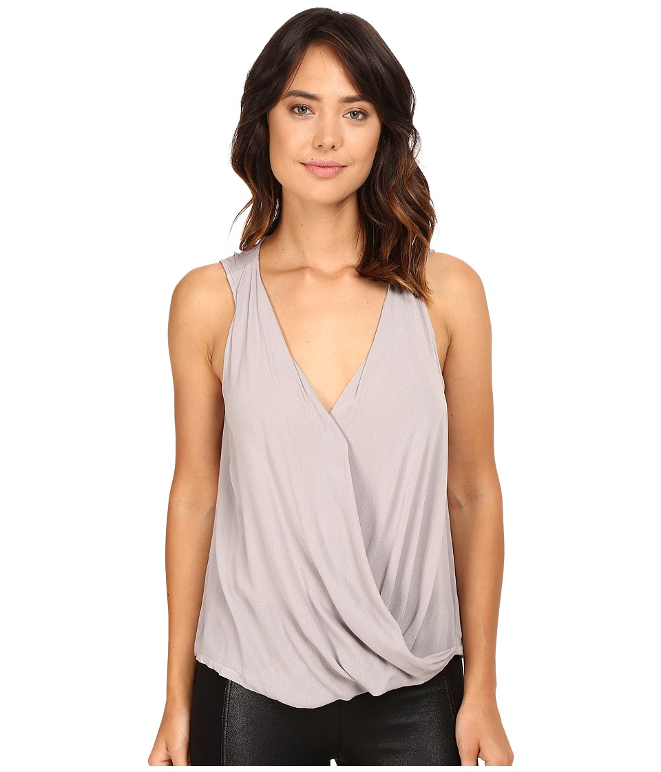 Lanston - Surplice Tank Top (Stone) Women's Sleeveless