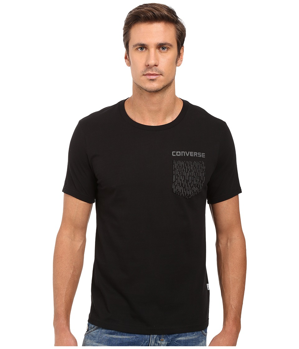 Converse - Reflective Rain Pocket Tee (Black) Men's T Shirt