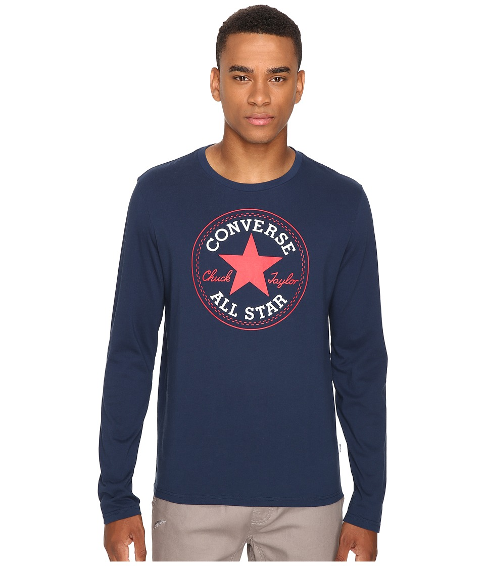 Converse - Core Long Sleeve Core Patch Tee (Nighttime Navy) Men's T Shirt