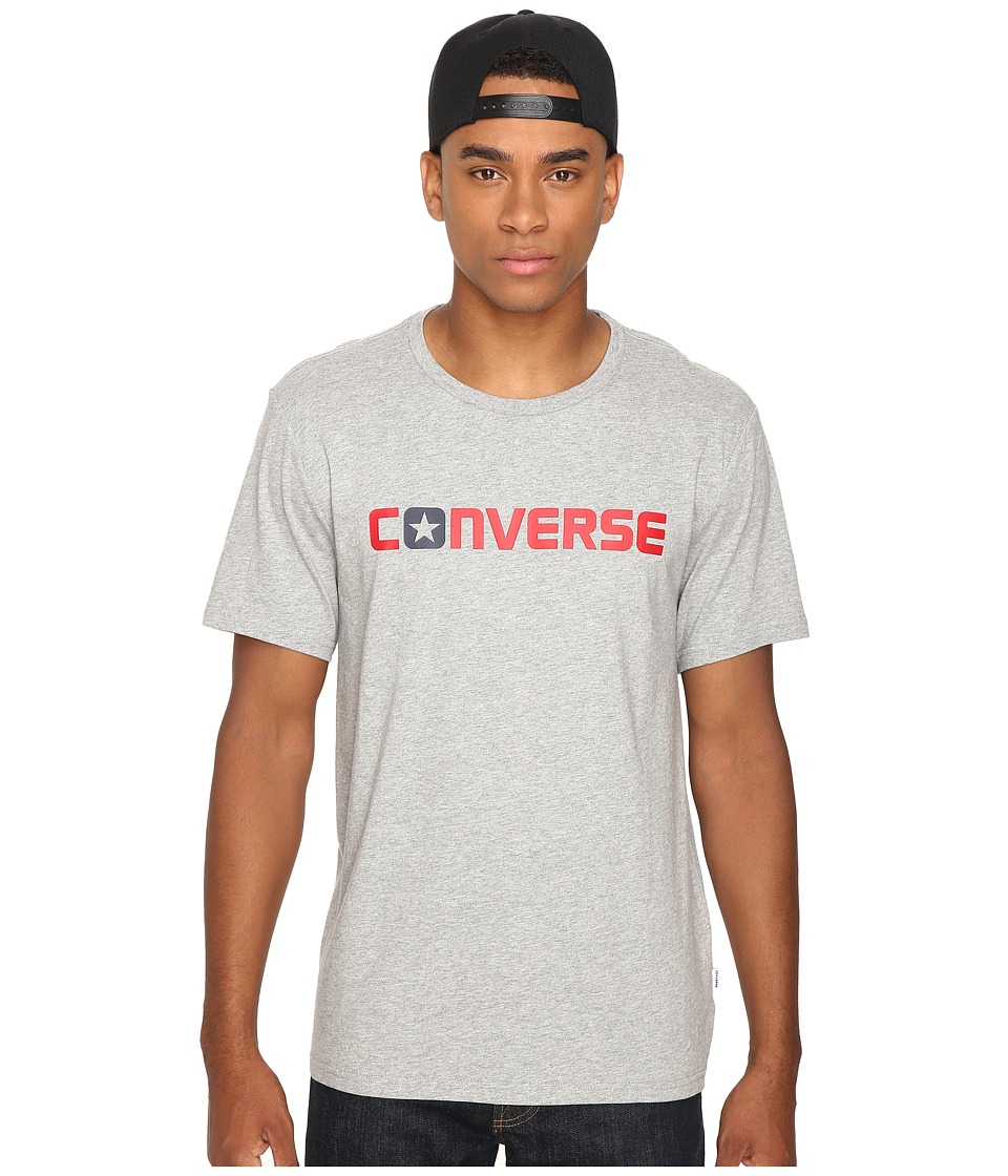 Converse - Core Wordmark Tee (Vintage Grey Heather) Men's T Shirt