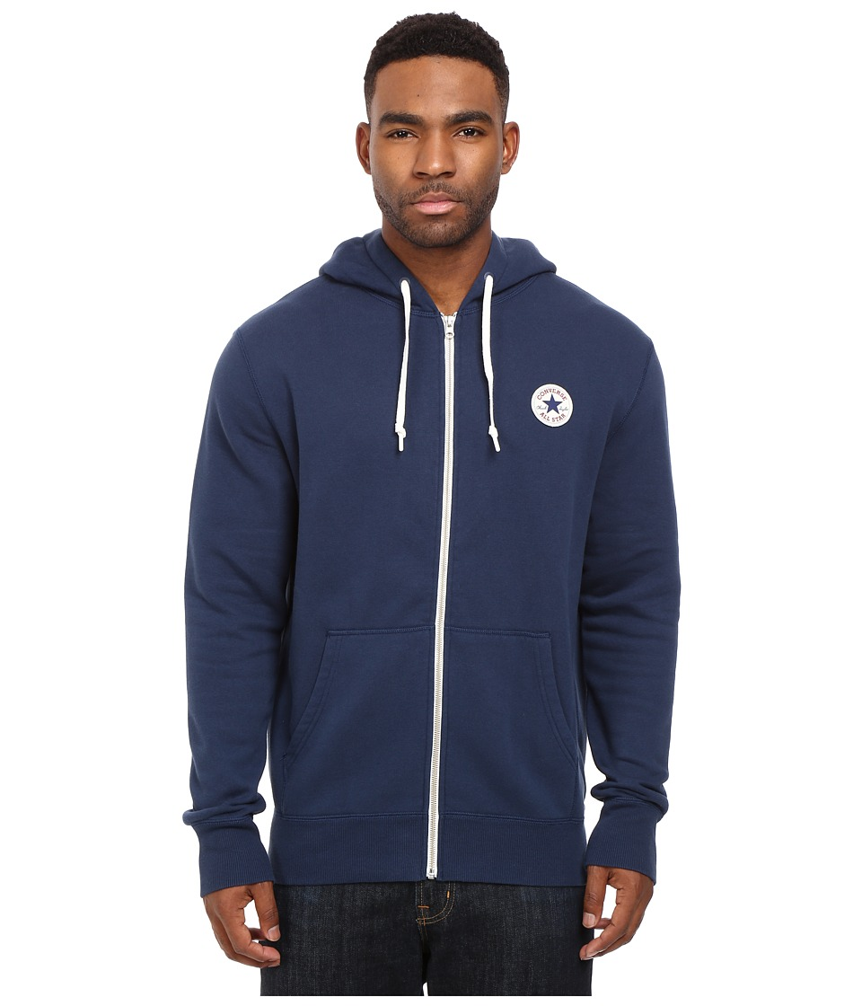 Converse - Core Full Zip Hoodie (Nighttime Navy) Men's Sweatshirt