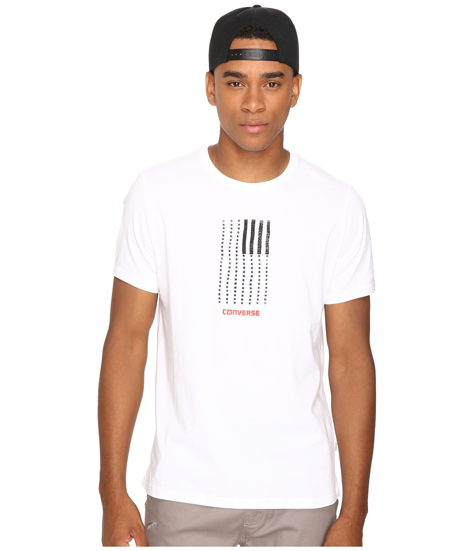 Converse - Black White Flag Short Sleeve Tee (White) Men's T Shirt