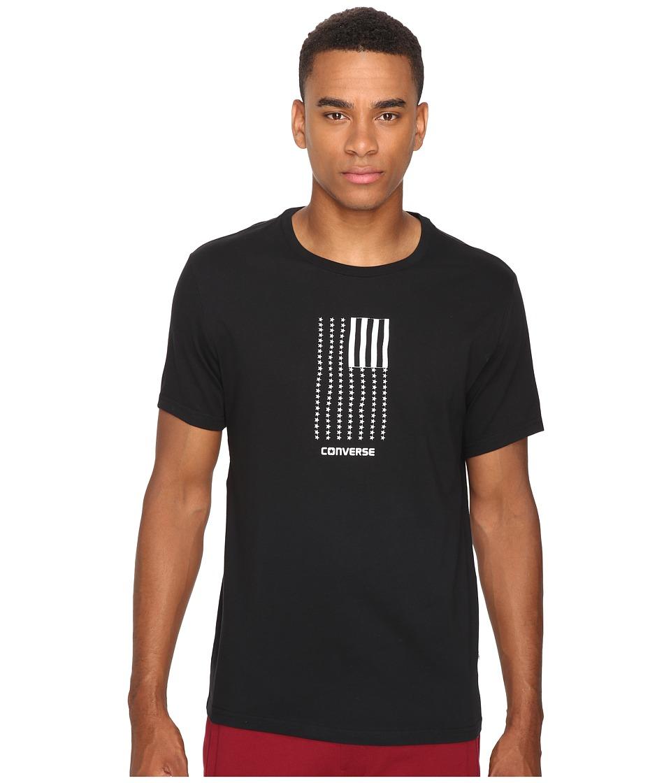 Converse Black White Flag Short Sleeve Tee (Black) Men