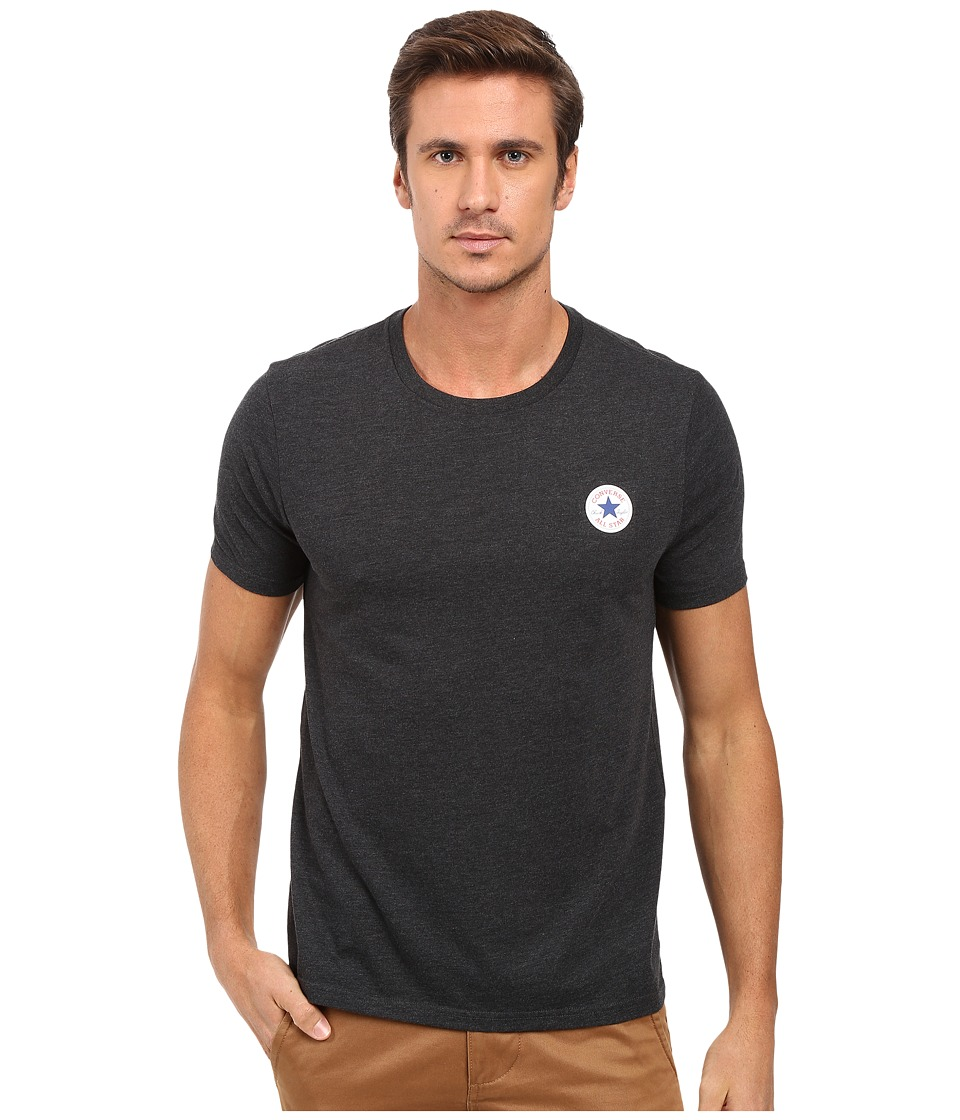 Converse - Core Left Chest Core Patch Short Sleeve Crew Tee (Black) Men's T Shirt