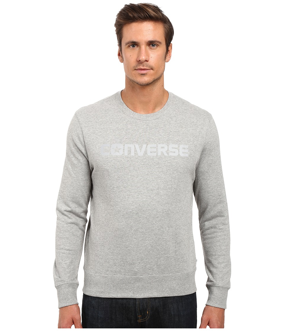Converse - Reflective Print Crew Fleece (Vintage Grey Heather) Men's Fleece