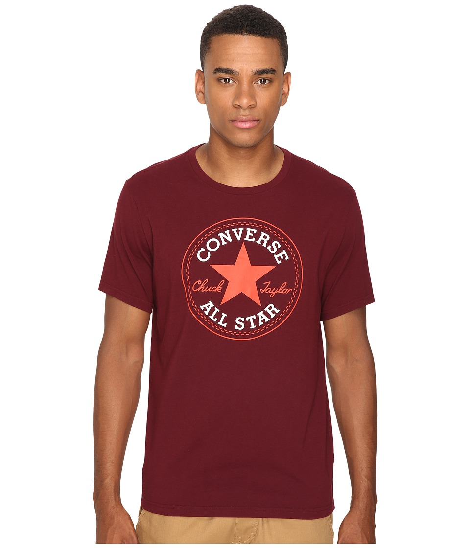 Converse - Core Short Sleeve Core Patch Tee (Deep Bordeaux) Men's T Shirt