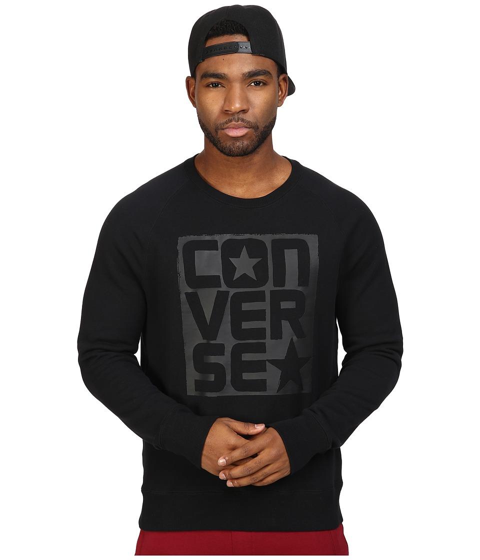 Converse - Rubber Graphic Crew (Black) Men's Clothing