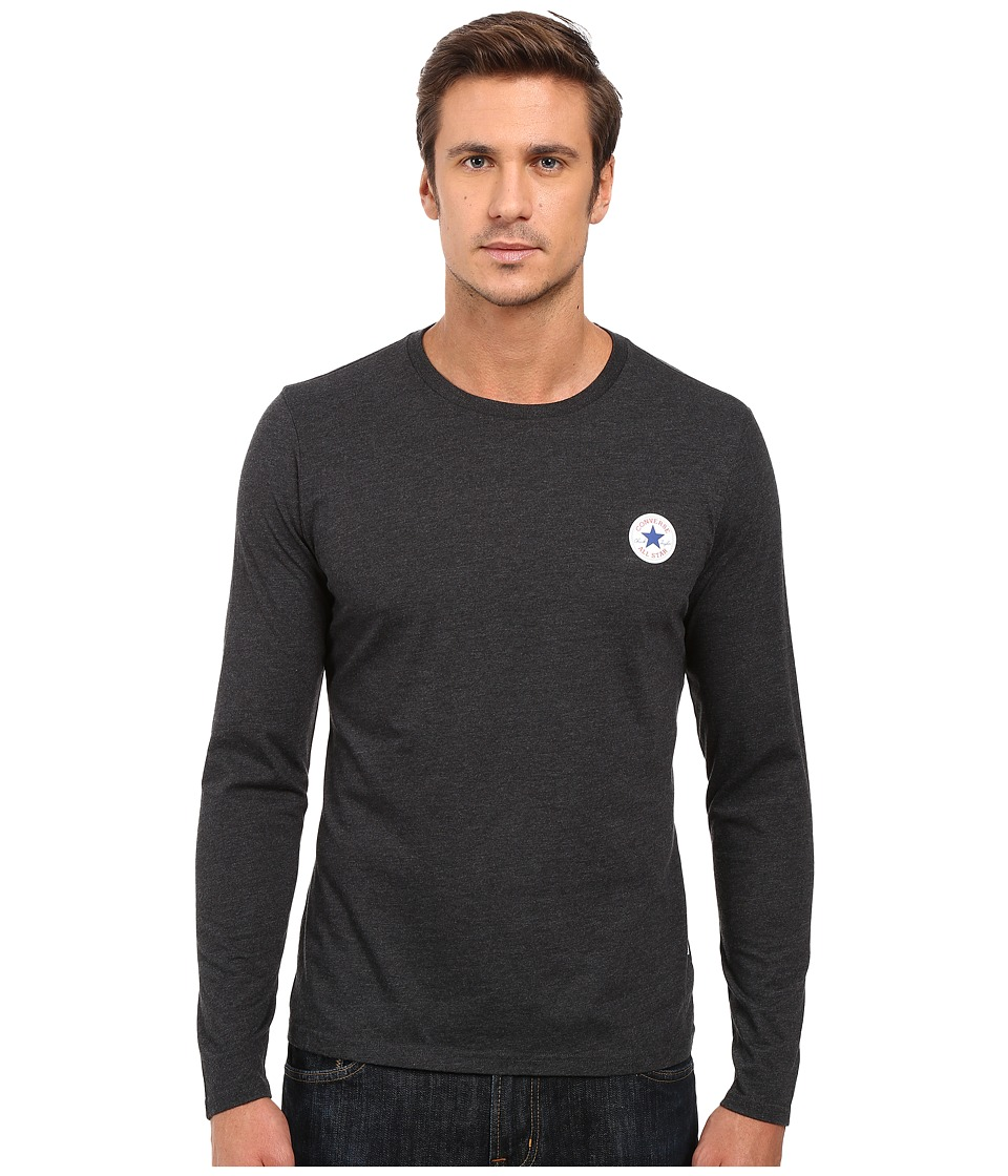 Converse - Core Left Chest Core Patch Long Sleeve Crew Tee (Black) Men's T Shirt